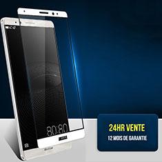 Huawei Mate 8用強化ガラス フル液晶保護フィルム F02 ファーウェイ ホワイト