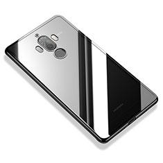 Huawei Mate 9用極薄ソフトケース シリコンケース 耐衝撃 全面保護 クリア透明 H05 ファーウェイ ブラック