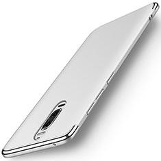 Huawei Mate 9 Pro用ケース 高級感 手触り良い メタル兼プラスチック バンパー M01 ファーウェイ シルバー