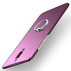 Huawei Mate 9 Pro用ハードケース プラスチック 質感もマット アンド指輪 A02 ファーウェイ パープル