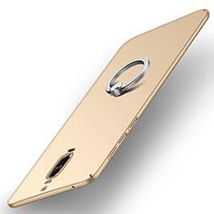 Huawei Mate 9 Pro用ハードケース プラスチック 質感もマット アンド指輪 A02 ファーウェイ ゴールド