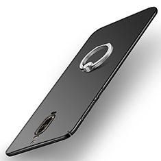 Huawei Mate 9 Pro用ハードケース プラスチック 質感もマット アンド指輪 A02 ファーウェイ ブラック