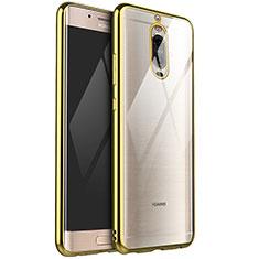 Huawei Mate 9 Pro用極薄ソフトケース シリコンケース 耐衝撃 全面保護 クリア透明 H02 ファーウェイ ゴールド