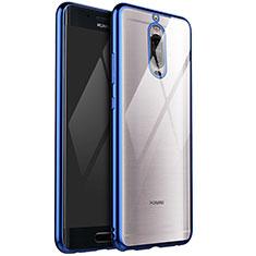 Huawei Mate 9 Pro用極薄ソフトケース シリコンケース 耐衝撃 全面保護 クリア透明 H02 ファーウェイ ネイビー