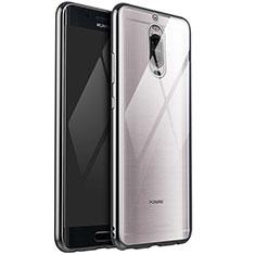 Huawei Mate 9 Pro用極薄ソフトケース シリコンケース 耐衝撃 全面保護 クリア透明 H02 ファーウェイ シルバー