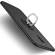 Huawei Mate 9 Pro用ハードケース プラスチック 質感もマット アンド指輪 ファーウェイ ブラック
