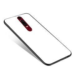 Huawei Mate RS用ハイブリットバンパーケース プラスチック 鏡面 カバー ファーウェイ ホワイト