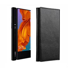 Huawei Mate Xs 5G用手帳型 レザーケース スタンド ファーウェイ ブラック