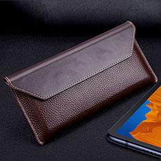 Huawei Mate Xs 5G用手帳型 レザーケース スタンド カバー T02 ファーウェイ ブラウン