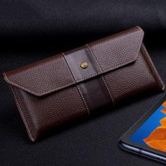 Huawei Mate Xs 5G用手帳型 レザーケース スタンド カバー T03 ファーウェイ ブラウン