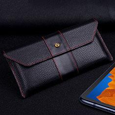 Huawei Mate Xs 5G用手帳型 レザーケース スタンド カバー T03 ファーウェイ ブラック