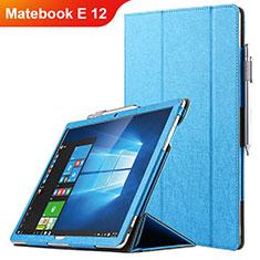 Huawei Matebook E 12用手帳型 レザーケース スタンド ファーウェイ ネイビー