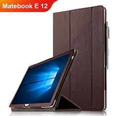 Huawei Matebook E 12用手帳型 レザーケース スタンド ファーウェイ ブラウン