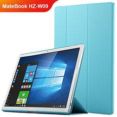 Huawei MateBook HZ-W09用手帳型 レザーケース スタンド ファーウェイ ネイビー