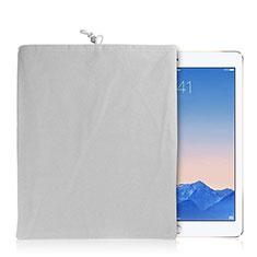 Huawei MatePad 10.4用ソフトベルベットポーチバッグ ケース ファーウェイ ホワイト
