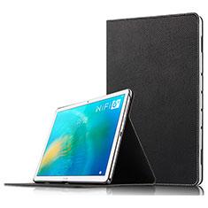 Huawei MatePad 10.8用手帳型 レザーケース スタンド ファーウェイ ブラック