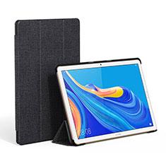 Huawei MatePad 10.8用手帳型 布 スタンド ファーウェイ ブラック