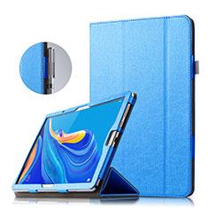 Huawei MatePad 10.8用手帳型 レザーケース スタンド ファーウェイ ネイビー