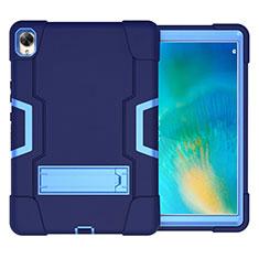 Huawei MatePad 10.8用ハイブリットバンパーケース スタンド プラスチック 兼シリコーン カバー ファーウェイ ネイビー