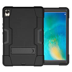 Huawei MatePad 10.8用ハイブリットバンパーケース スタンド プラスチック 兼シリコーン カバー ファーウェイ ブラック