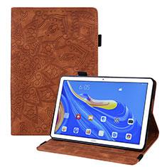 Huawei MatePad 10.8用手帳型 レザーケース スタンド カバー ファーウェイ ブラウン