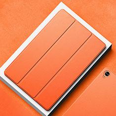 Huawei MatePad 10.8用手帳型 レザーケース スタンド カバー L02 ファーウェイ オレンジ