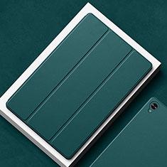 Huawei MatePad 10.8用手帳型 レザーケース スタンド カバー L02 ファーウェイ モスグリー