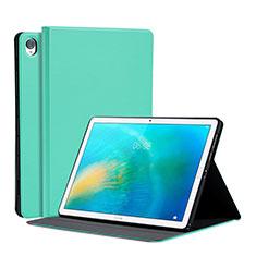 Huawei MatePad 10.8用手帳型 レザーケース スタンド カバー L03 ファーウェイ ライトグリーン