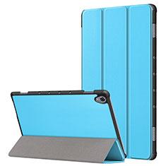 Huawei MatePad 10.8用手帳型 レザーケース スタンド カバー L05 ファーウェイ ブルー