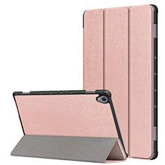 Huawei MatePad 10.8用手帳型 レザーケース スタンド カバー L05 ファーウェイ ローズゴールド