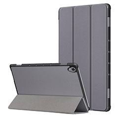 Huawei MatePad 10.8用手帳型 レザーケース スタンド カバー L05 ファーウェイ グレー