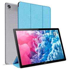Huawei MatePad 10.8用手帳型 レザーケース スタンド カバー L06 ファーウェイ ブルー