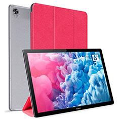 Huawei MatePad 10.8用手帳型 レザーケース スタンド カバー L06 ファーウェイ レッド