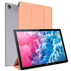 Huawei MatePad 10.8用手帳型 レザーケース スタンド カバー L06 ファーウェイ オレンジ