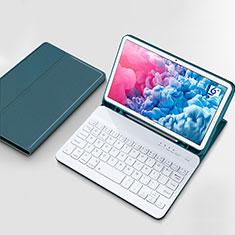 Huawei MatePad 10.8用手帳型 レザーケース スタンド アンド キーボード ファーウェイ シアン