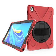 Huawei MatePad 10.8用ハイブリットバンパーケース スタンド プラスチック 兼シリコーン カバー A01 ファーウェイ レッド