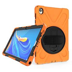 Huawei MatePad 10.8用ハイブリットバンパーケース スタンド プラスチック 兼シリコーン カバー A01 ファーウェイ オレンジ