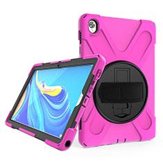 Huawei MatePad 10.8用ハイブリットバンパーケース スタンド プラスチック 兼シリコーン カバー A01 ファーウェイ ローズレッド