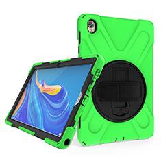 Huawei MatePad 10.8用ハイブリットバンパーケース スタンド プラスチック 兼シリコーン カバー A01 ファーウェイ グリーン