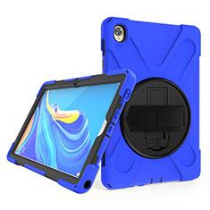 Huawei MatePad 10.8用ハイブリットバンパーケース スタンド プラスチック 兼シリコーン カバー A01 ファーウェイ ネイビー