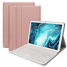 Huawei MatePad 10.8用手帳型 レザーケース スタンド アンド キーボード K01 ファーウェイ ローズゴールド