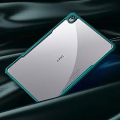 Huawei MatePad 10.8用ハイブリットバンパーケース クリア透明 プラスチック 鏡面 カバー ファーウェイ シアン