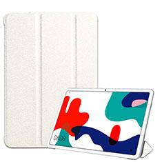 Huawei MatePad 5G 10.4用手帳型 レザーケース スタンド カバー ファーウェイ ホワイト