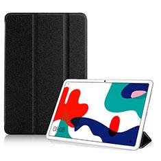Huawei MatePad 5G 10.4用手帳型 レザーケース スタンド カバー ファーウェイ ブラック