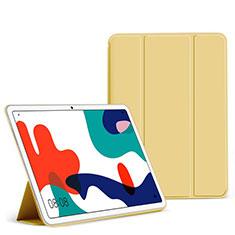 Huawei MatePad 5G 10.4用手帳型 レザーケース スタンド カバー L02 ファーウェイ イエロー