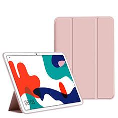 Huawei MatePad 5G 10.4用手帳型 レザーケース スタンド カバー L02 ファーウェイ ピンク