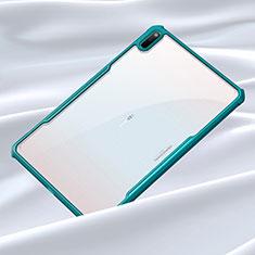 Huawei MatePad 5G 10.4用ハイブリットバンパーケース クリア透明 プラスチック 鏡面 カバー ファーウェイ シアン