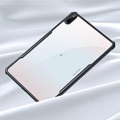 Huawei MatePad 5G 10.4用ハイブリットバンパーケース クリア透明 プラスチック 鏡面 カバー ファーウェイ ブラック