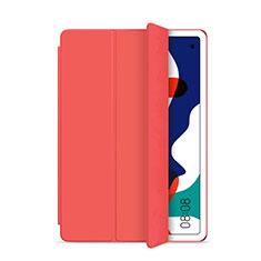 Huawei MatePad 5G 10.4用手帳型 レザーケース スタンド カバー L03 ファーウェイ レッド