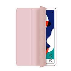 Huawei MatePad 5G 10.4用手帳型 レザーケース スタンド カバー L03 ファーウェイ ピンク